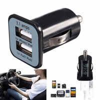 Uniwersalny do samochodów ładowarka Mini podwójne porty USB adapter gniazda dla iPad iPhone