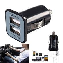 Universal Auto Car Charger Mini Dual Ports USB Socket Adapter for iPad iPhone недорого