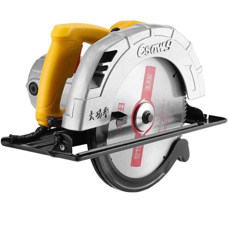 Scie électrique circulaire multi-fonction 7 pouces 1420W Machine de découpe ménage scie circulaire Mini scie coupe bois métal tuile brique