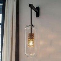 Itália Projeto do Scone Da Parede luminária Preto/Ouro Quarto Lâmpada de Cabeceira espelho de luz Decoração de Casa lâmpadas de parede interior Do Banheiro moderno