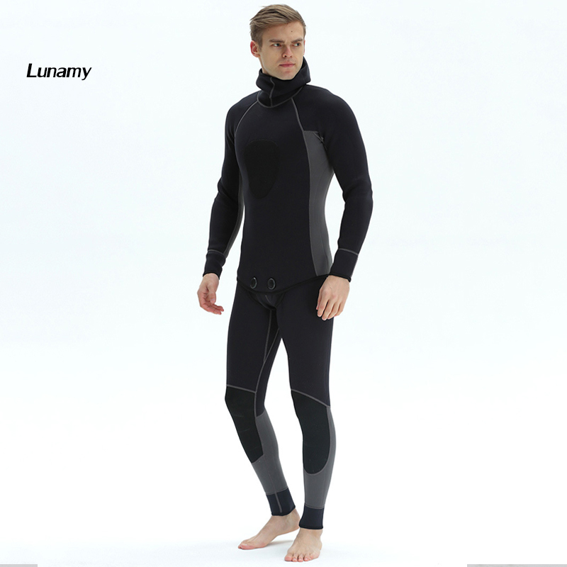 все цены на Men's Professional Surfing Wetsuits 3MM Neoprene Superelastic Diving Suit Waterproof Warm Spearfishing Wetsuit Two Piece Suit
