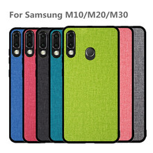 Classic Fabric Case For Samsung galaxy M20 M30 M10 Soft TPU Silicone edge Shockproof Coque Covers