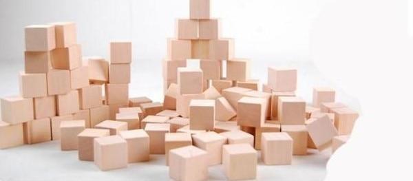 Bricolage bois couleur 2 5 2 5 cm cube blocs de construction 100pcx jeu de montessori aides for Construction cube bois