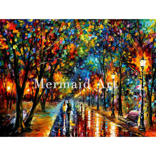 Merveilleux Hand Painted Modern Artwork Of Landscape Palette Knife Thick Art When  Dreams Come True Canvens Oil