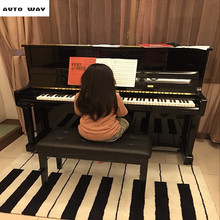 Fashion Black and white piano keyboard Thicken carpet living room coffee table mat Bedroom bedside Handmade Acrylic Carpet