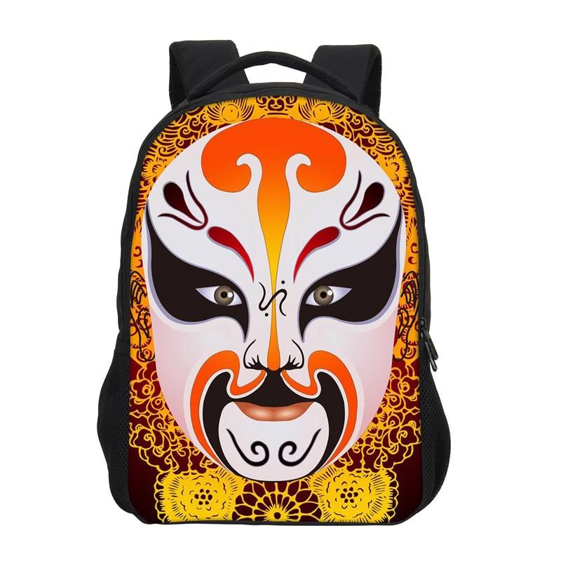 VEEVANV School Backpacks Mochila Daily-Bags Casual Fashion Cartoon Operas-Mask Printing