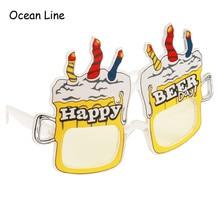 Funny Beer Bottle Wine Costume Glasses
