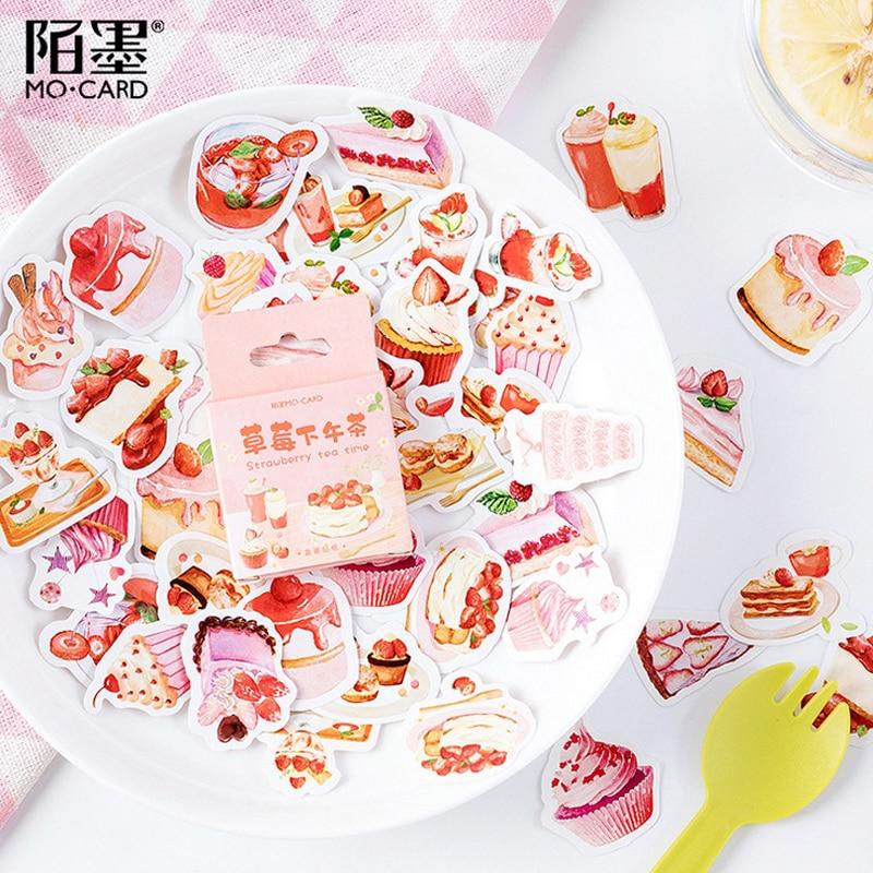 45 Pcs/lot Dessert Strawberry Cake Paper Sticker Decoration Stickers DIY Ablum Diary Scrapbooking Label Sticker