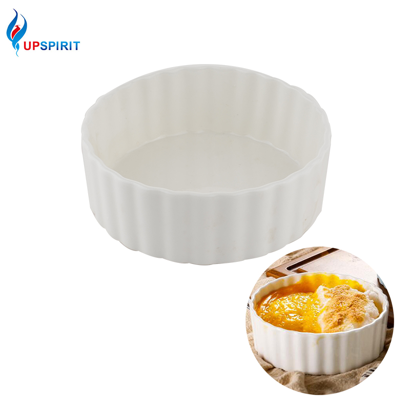 Upspirit 6 Inch Round Cake Ceramic Baking Bowl For Macaron