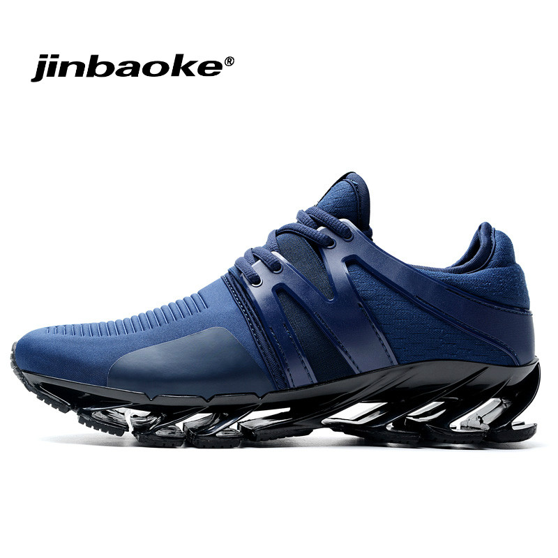 Cushion Blade Running Shoes for Men Breathable Zapatillas Hombre Blue Outdoor Sport Sneakers Lightweigh Walking Shoes Size39-45 2018 new running shoes for men breathable zapatillas hombre outdoor sport sneakers lightweigh walking shoes size 39 45 sneakers