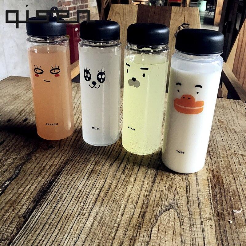 Sports Bottle Water Bottle of Lemon Juice Cicycle Stylish Space Bottle With Cartoon Drinkware