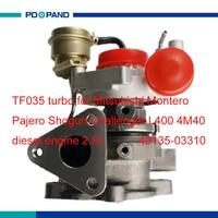 Engine turbo kit TF035 TD04 49135 03310 49135 03130 for Mitsubishi Pajero Montero Shogun Challenger L400 4M40 diesel 2.8L