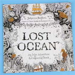 1 шт. 24 страницы «Lost ocean» чернильного Приключения книжка-раскраска для взрослых детей снять стресс убить время картина альбом для рисования