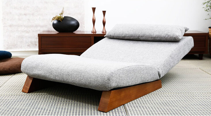 Floor Folding Single Seat Sofa Bed Modern Fabric Japanese Living