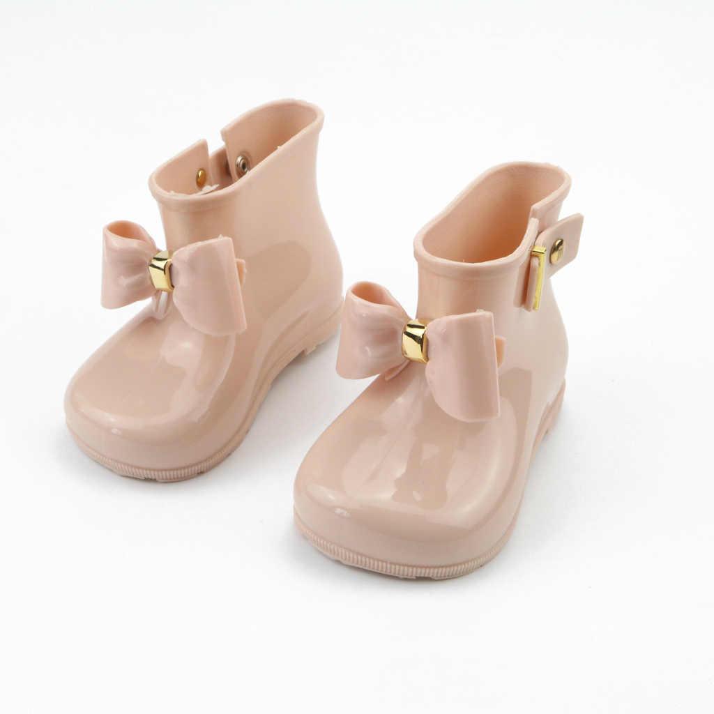 4c282fbf8 ... Justsl 2017 Модная Летняя распродажа дети лук прекрасный стиль обувь  для девочек Нескользящие резиновые сапоги Детская ...