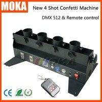 Wedding confetti machine confetti cannon DMX 512 controller 4 Holder Confetti Shooter Launcher Machine