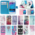 Luxury Wallet PU Leather Flip Case Cover For Samsung Galaxy J1 J100H Cell Phone Stand Case TPU Soft Back Cover With Card Holder