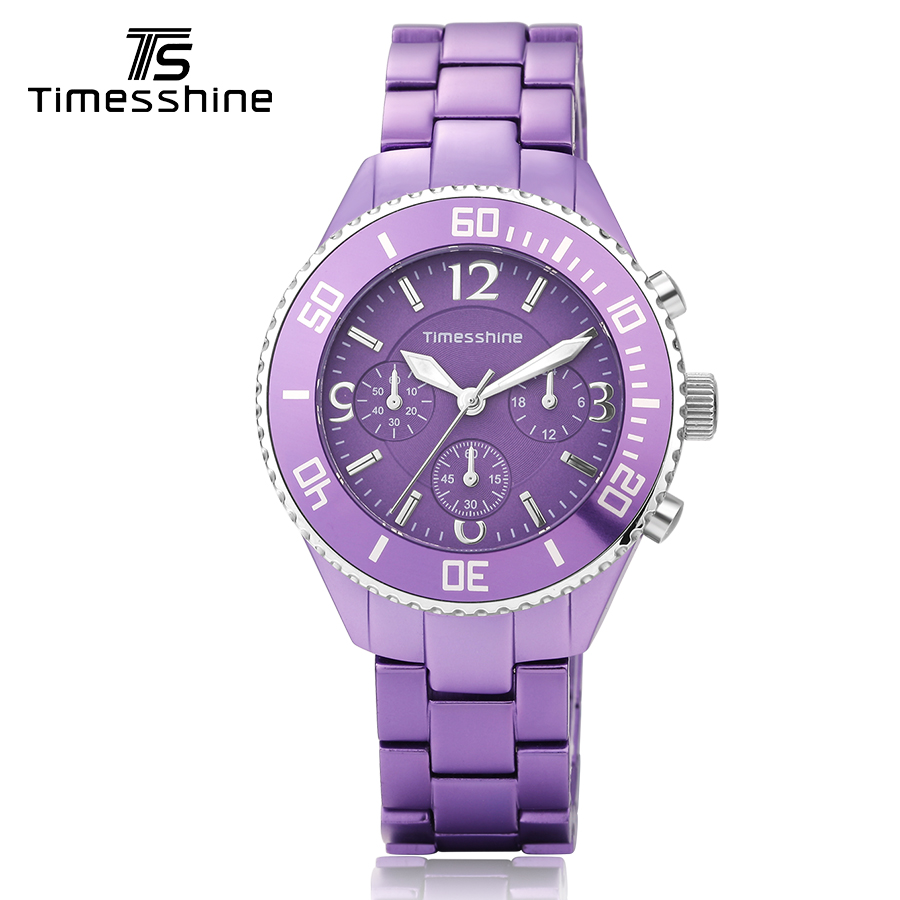 Timesshine ceramic watch women Pink/ Purple/ White ladies watches fashion women wrist clock luxury brand swimming Quartz Watch timesshine women watch quartz watch