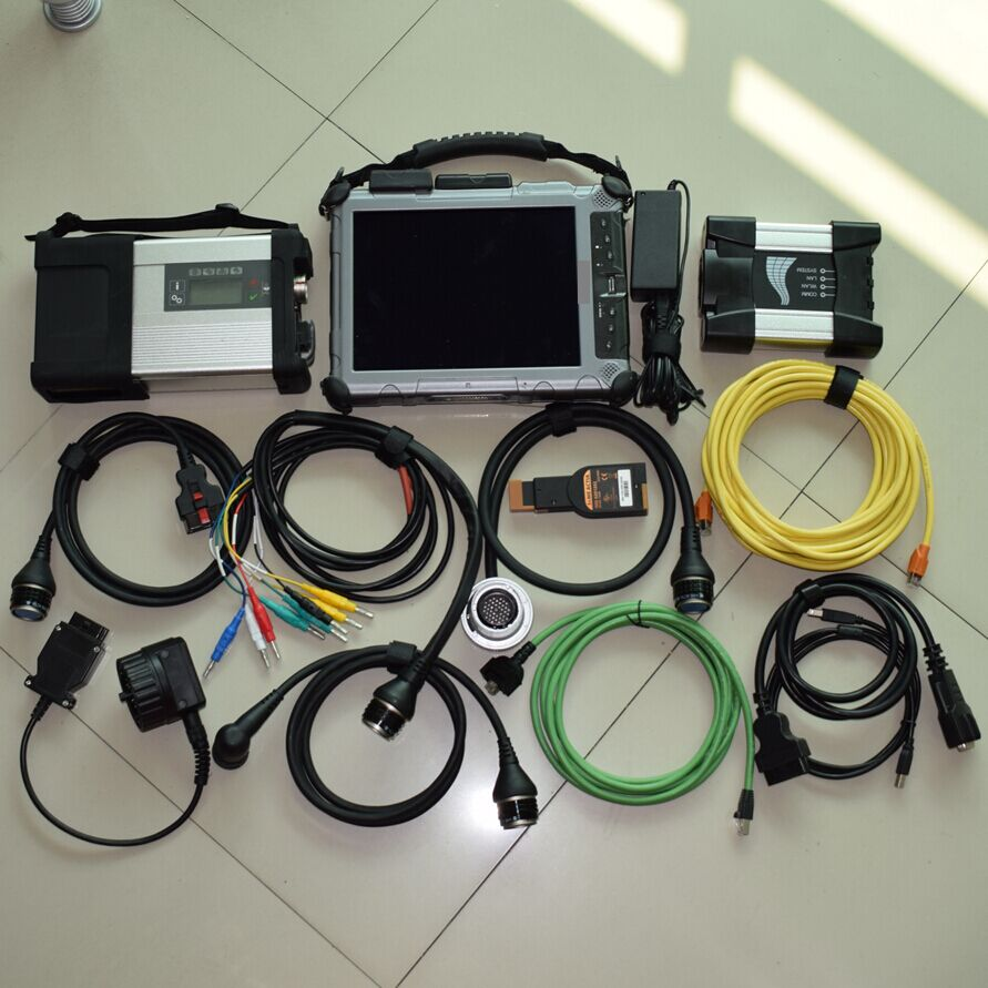 two in one sd connect C5 and for BMW icom next with latest v2017.09 software SSD with XPLORE IX104 Tablet