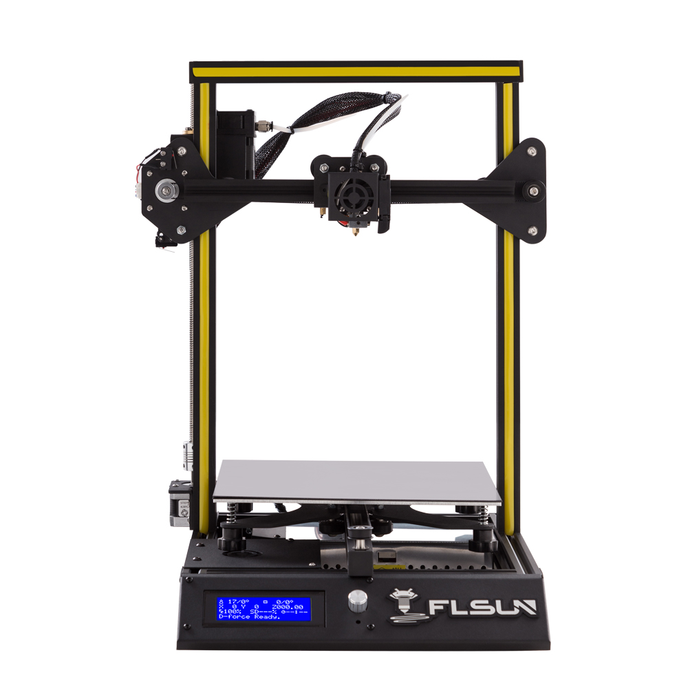 New User Flsun I3 3D Printer Pre-assembly Large Size 240*240*260mm Metal Frame Heated Bed One Roll Filament For Beginners 2018 flsun 3d printer large size 240 240 260mm pre assembly prusa i3 3d printer metal parts heatbed support free pla filament
