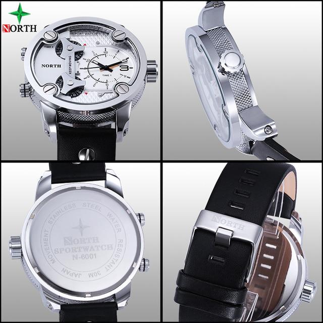 NORTH Brand Fashion Men's Sports Watches 2018  Quartz Hour Clock Man Leather 4