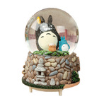 New Miyazaki Totoro Crystal Ball Music Box Ornaments Crystal Ball Snow with Music Light Water Polo Music Box Crafts Home Gifts