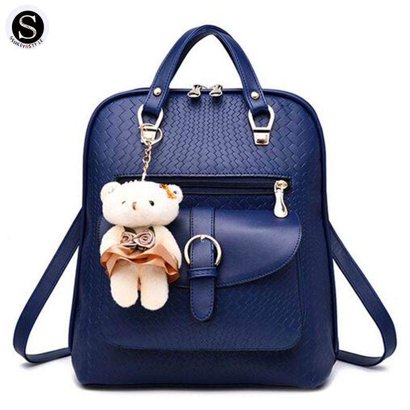 Senkey Style Women Backpack Pu Leather Travel Famous Brands Designer - Backpacks