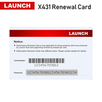 Launch Renewal Card/Update Card/Pin card Extend 1/2 years' update time for x431 v+/v/pros mini/pro mini/pro/pros/pro3s/HD/Diagun