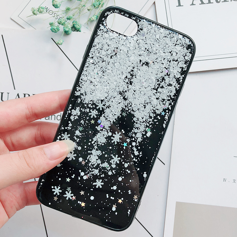 Luxury Gold Foil Bling Marble Phone Cases For iPhone X 10 Cover Hole Soft TPU Cover For iPhone 7 8 6 6s Plus Glitter Case Coque (7)