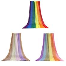 Wrap Blanket Rainbow-Colors Photo-Props Stretchable Newborn-Baby Pure-Cotton 1PC Carpet