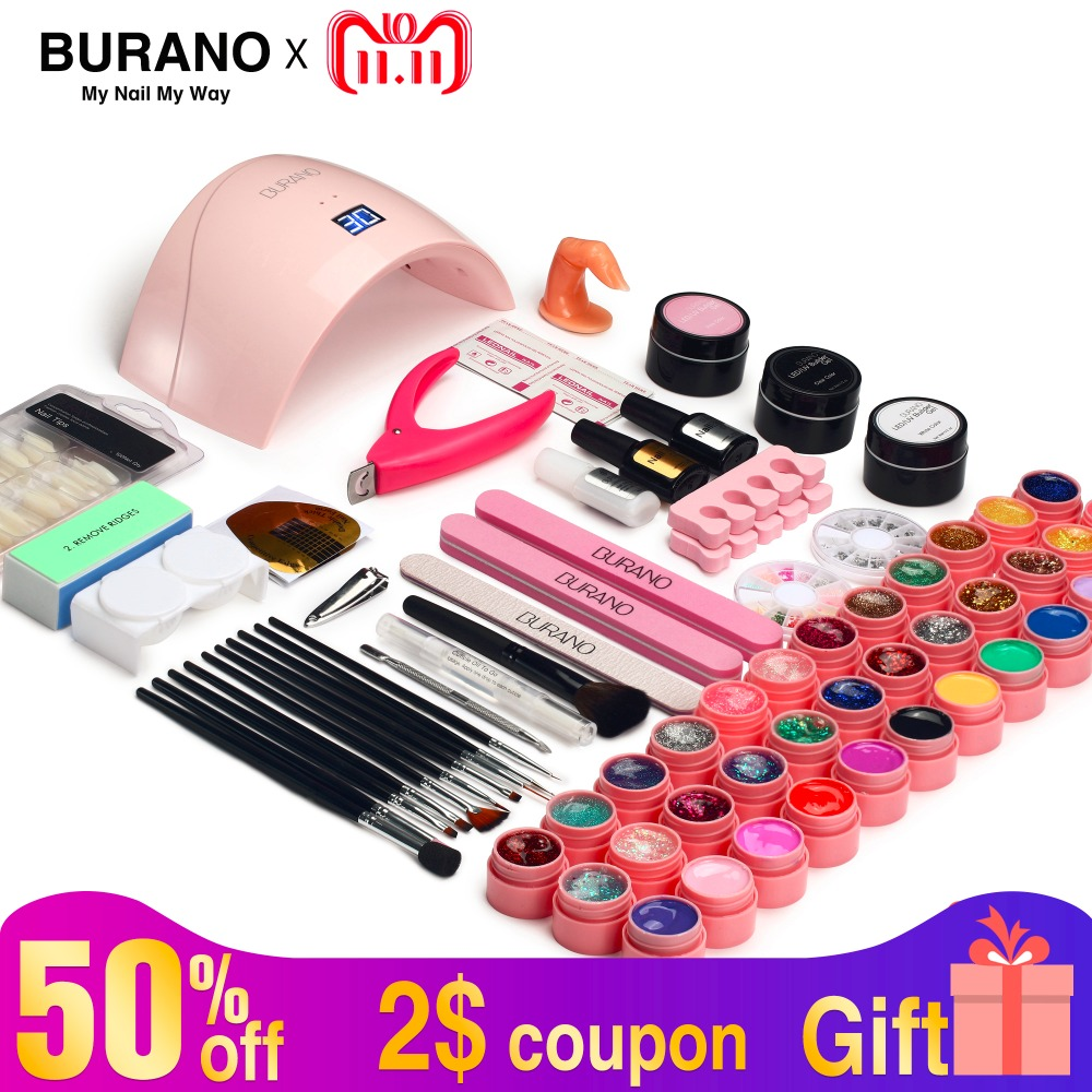 Set For Manicure Gel Nail Polish Set UV Gel Polish 36W UV Lamp For Nail Tools For Manicure NAIL Art Set All For Manicure Tools nail rhinestones 3d nail art decorations hinning sharp flat bottom studs nail decor for uv gel polish manicure in wheel