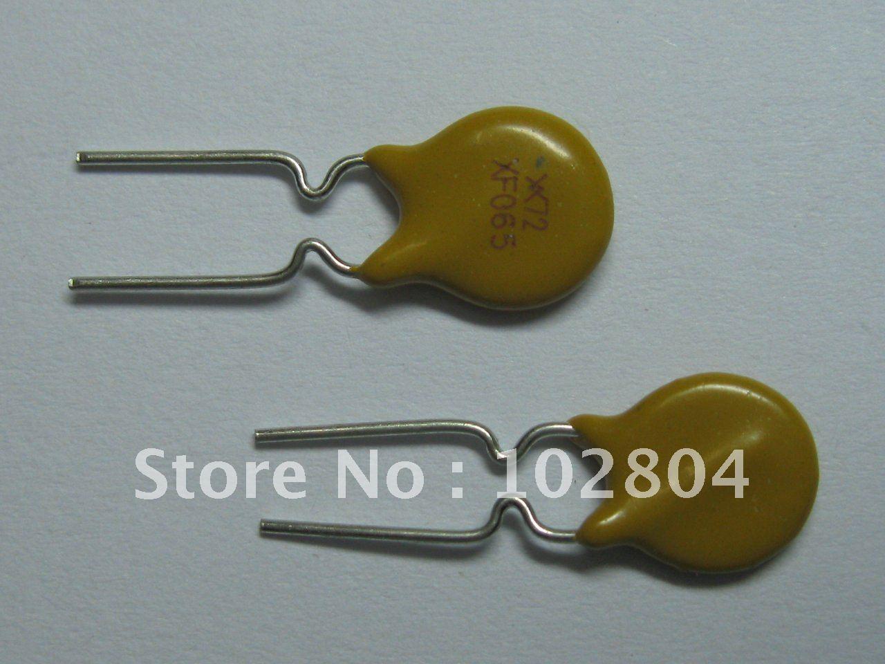 50 шт. 72 в 0.65A полипереключатель радиальный этилированный PPTC сбрасываемый предохранитель