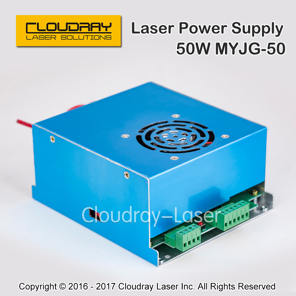 ФОТО 50W CO2 Laser Power Supply for CO2 Laser Engraving Cutting Machine MYJG-50