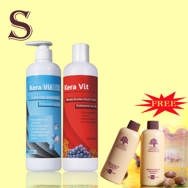 purifying shanpoo and 12% R keratin Brazilian treatment damage hair or curly hair buy 2 pcs get one free kera kit kera vit 500ml brazilian treatment 8% keratin hair straightening and purifying shampoo get free gift smooting and shine hair
