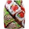 Женская Мини-Юбки 2015 Дизайн, Хорошее Качество Мода Стиль Зима высокая Талия 3D Распечатать Японские Суши Короткие Pancel Юбки для женщина