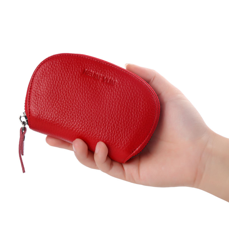 Fashion Genuine Leather Women Card Holder Wallet Large Capacity Female Lovely Small Zipper Credit Card Case