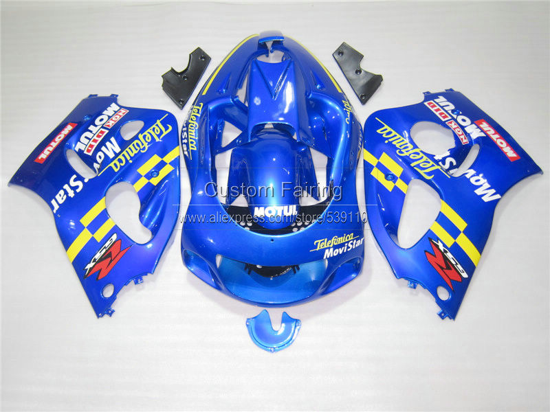 Fairing kit for SUZUKI 1996 1997 1998 1999 2000 GSXR600 GSXR750 GSXR 600 750 96-00 blue Movistar motorcycle fairings set ZE54 lowest price fairing kit for suzuki gsxr 600 750 k4 2004 2005 blue black fairings set gsxr600 gsxr750 04 05 eg12