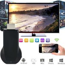 Высокой четкости Wi-Fi дисплей приемника 1080 P mirascreen ТВ ключ DLNA AirPlay Miracast беспроводное подключение HDMI TV Stick