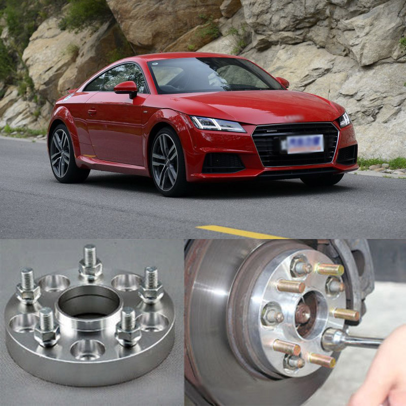 4pcs New Billet 5 Lug 14*1.5 Studs Wheel Spacers Adapters For Audi A3 8P 2007+/ A4 01-08/ A6 97-01/A8 D3 05-10/R8 07+/TT 06+ 2 pieces of specialized in the production of wheel adapters wheel spacers 4 x100 suitable for toyota corolla vios and yaris