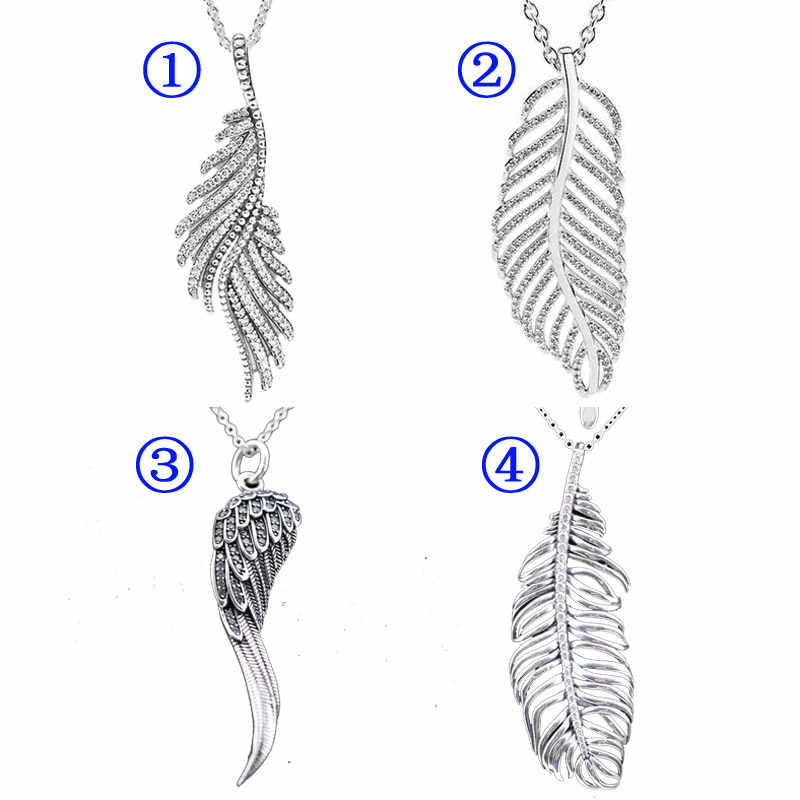1b6d71c09 Light as a Majestic Feathers Eagle Wings Pine Needle Leave Necklace For  Women Gift Pandora Jewelry