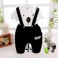 2016 llegó el nuevo perro patrón de la camiseta + los pantalones de la correa 2 unids ropa de los muchachos del bebé pijamas para bebés ropa traje niños bebés trajes