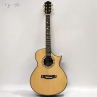 good quality natural color 40 inch acoustic guitar spruce solid wood top guitarra electrica