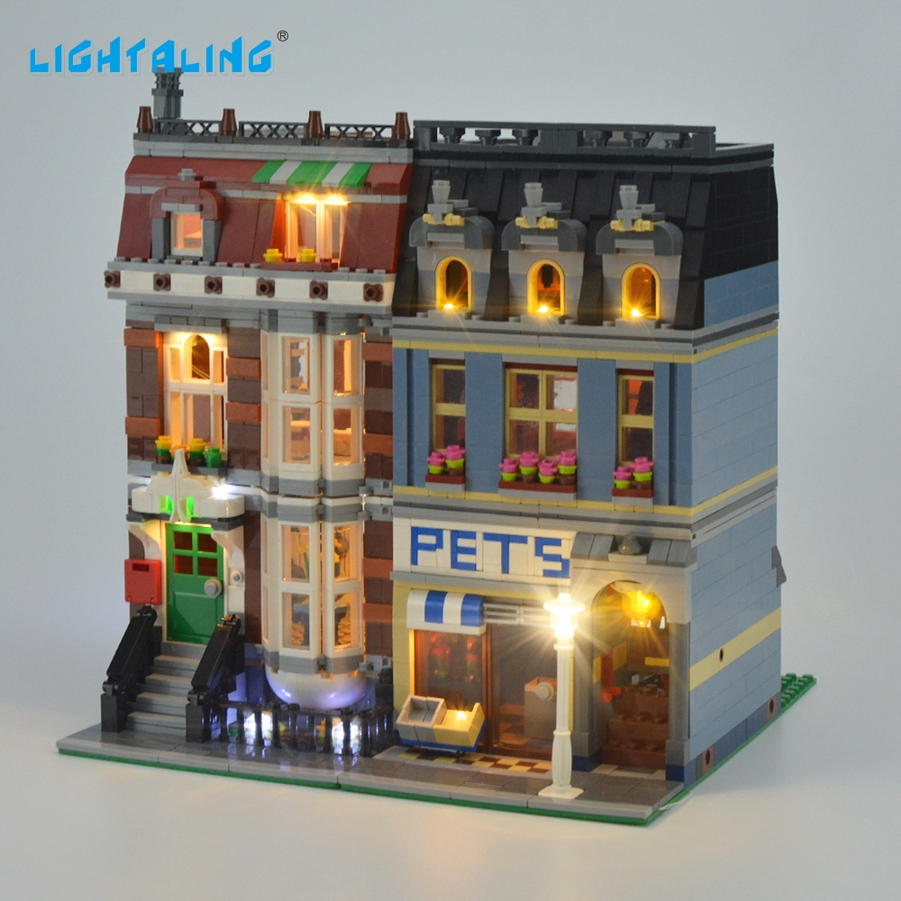 Lightaling Led Light Kit för Creator Pet Shops Light Set Kompatibel med 10218 och 15009 (inte inkludera modellen)