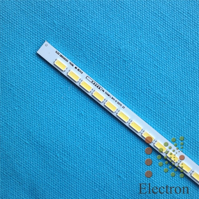 676mm LED Backlight Lamp strip 80 leds For LJ64-03479A SLED 2012SG555 7030L 55 inch LCD Monitor High light Free Shipping