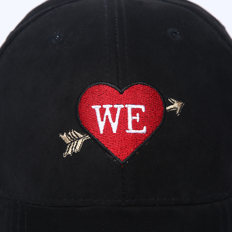 c07fa16bdd1 Unisex Men Women Baseball Cap Fashion Heart Embroidery Velvet Hat Casual  Adjustable Dad Hats Autumn Winter Fitted Trucker Caps-in Baseball Caps from  Apparel ...