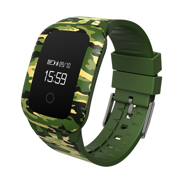 J-wireless A28 Sport Fitness Tracker Smart Band Blood Pressure Oxygen Test Waterproof Military style wristband  for ios android
