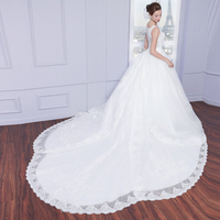 Custom made 2018 Big Luxurious Ball Gown Handmade Beaded Long Lace Bridal with Bows Vestido De Noiva mother of the bride dresses