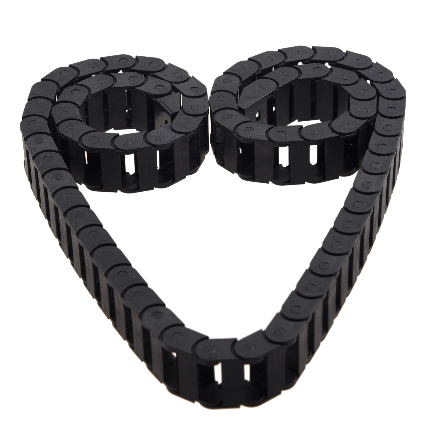 10 x 20mm 1M Open On Both Side Plastic Towline Cable Drag Chain10 x 20mm 1M Open On Both Side Plastic Towline Cable Drag Chain