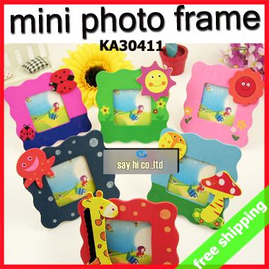 FREE SHIPPING 24pcs Photo Frame Wooden Mini Standing Cartoon Korean ...