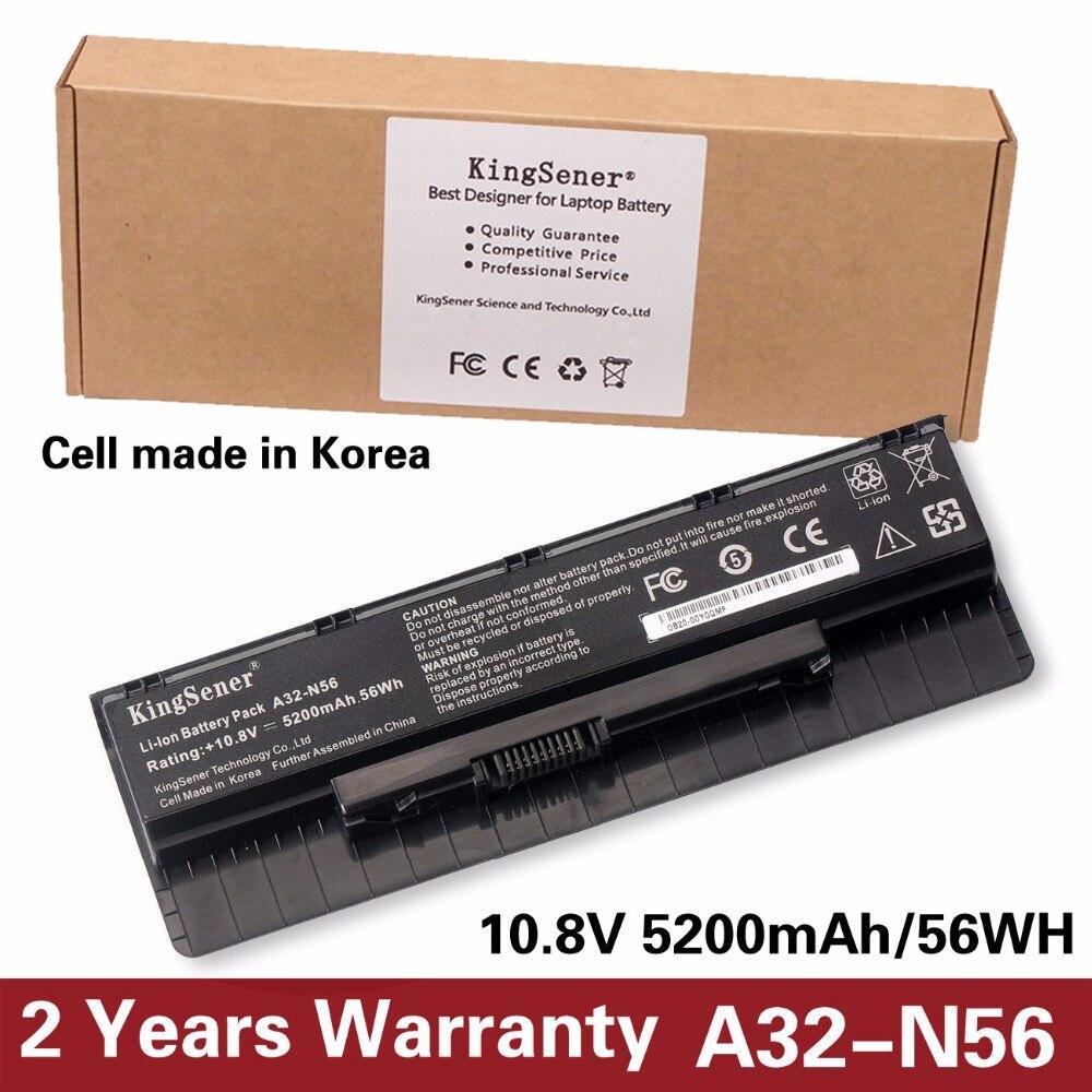 10.8 V 5200 mAh Cellule de La Corée Nouveau A32-N56 Batterie pour ASUS N46 N46V N46VJ N46VM N46VZ N56 N56V N56VJ N56VM N76 N76VZ A31-N56 A33-N56